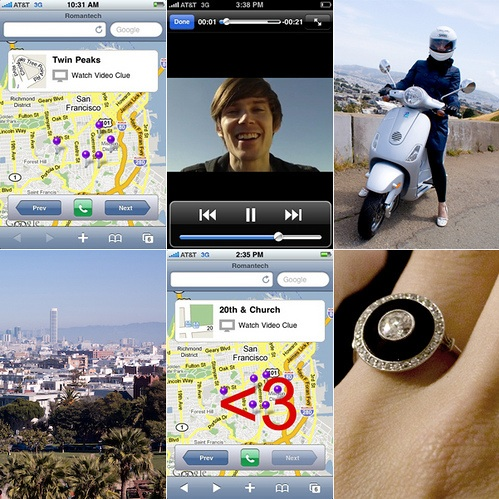 Marriage Proposal Using Custom iPhone App & Scavenger Hunt