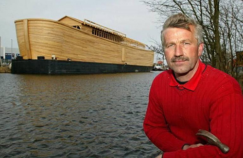 Dutch Man Builds Half Scale Replica of Noah's Ark