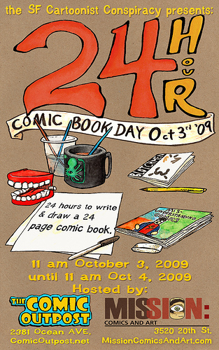 24 Hour Comic Book Day in San Francisco