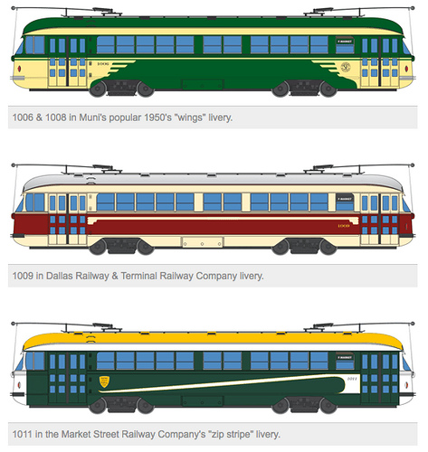 New Looks For Vintage San Francisco Streetcars