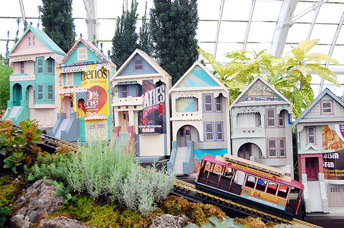 San Francisco Recycled in Miniature (with Trains)
