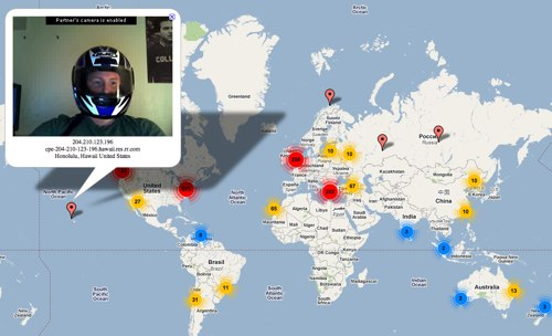 Chatroulette Map: Not So Anonymous Anymore