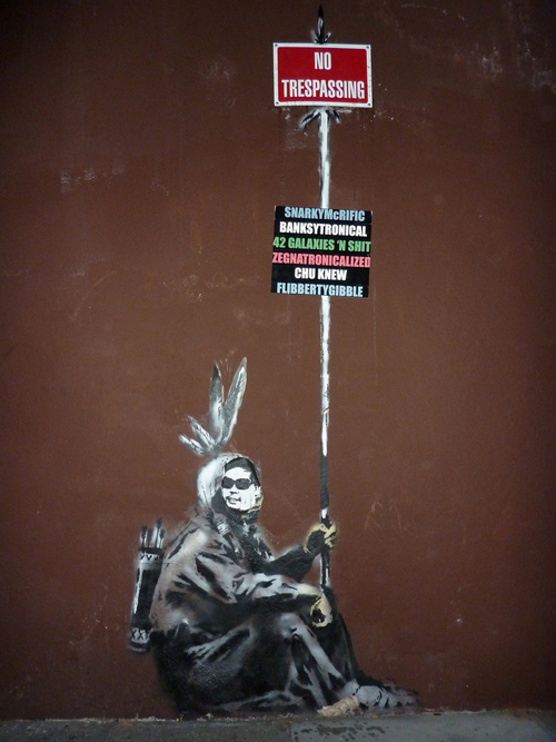 San Francisco Banksy Art Pranked, Turned Into A Tribute To Frank Chu