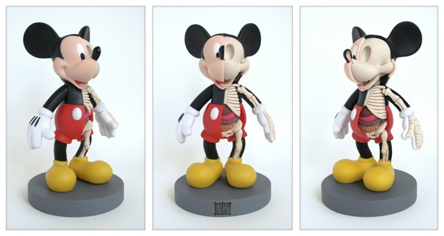 Mickey Mouse Anatomy Sculpture by Jason Freeny