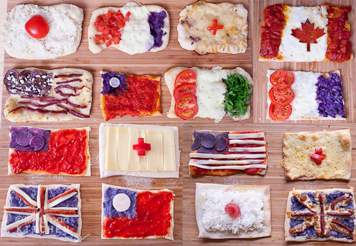 Pizza Flags of The World