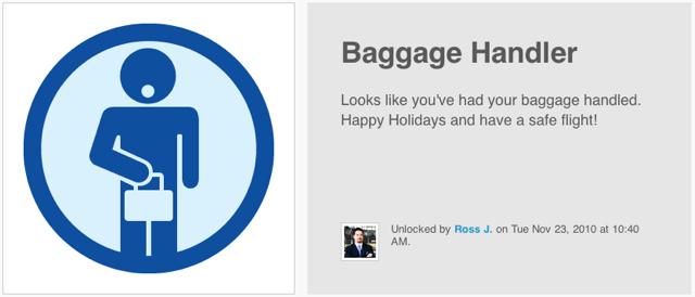 Baggage Handler Foursquare Badge