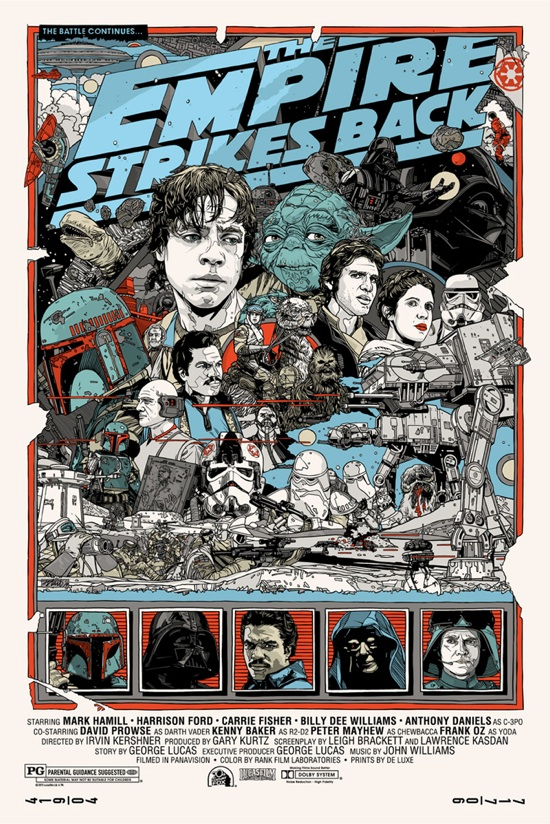 Star Wars Trilogy Posters by Tyler Stout