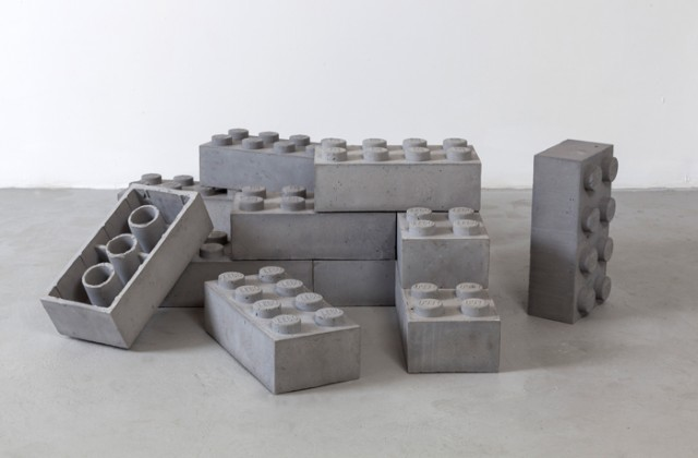 Concrete LEGO blocks by Andrew Lewicki