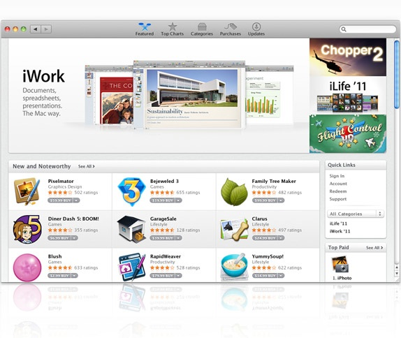 Apple Launches Mac App Store