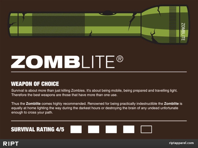 ZOMBLITE, Weapon of Choice Against a Zombie Attack