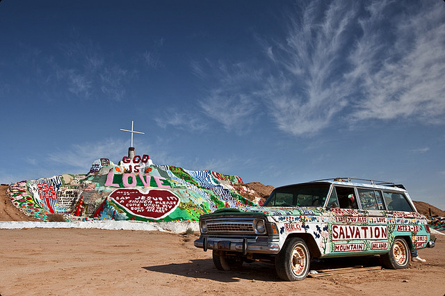 Salvation Mountain, an Epic Folk Art Installation in the California Desert