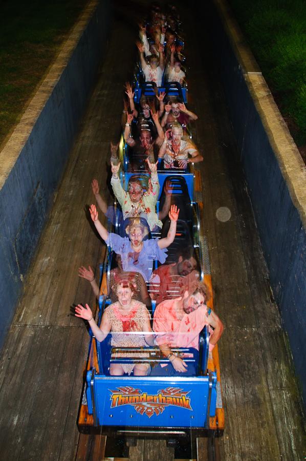 Zombies Invade Dorney Park, Setting Theme Park Ride World Record