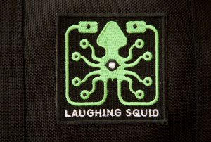 Laughing Squid Embroidered Patch