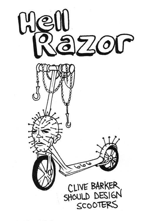 Hell Razor What It Might Look Like If Clive Barker Designed Scooters