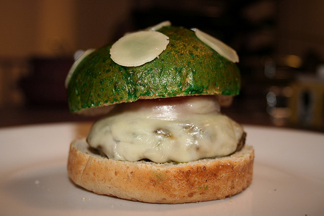 Super Mario Bros. Inspired 1Up Mushroom Burger