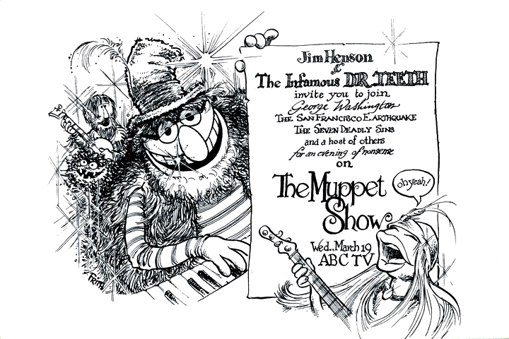 The Muppet Show Postcard