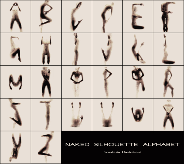 9208a5d8bd868a Naked Silhouette Alphabet, Photo Series of a Model Forming Letters ...