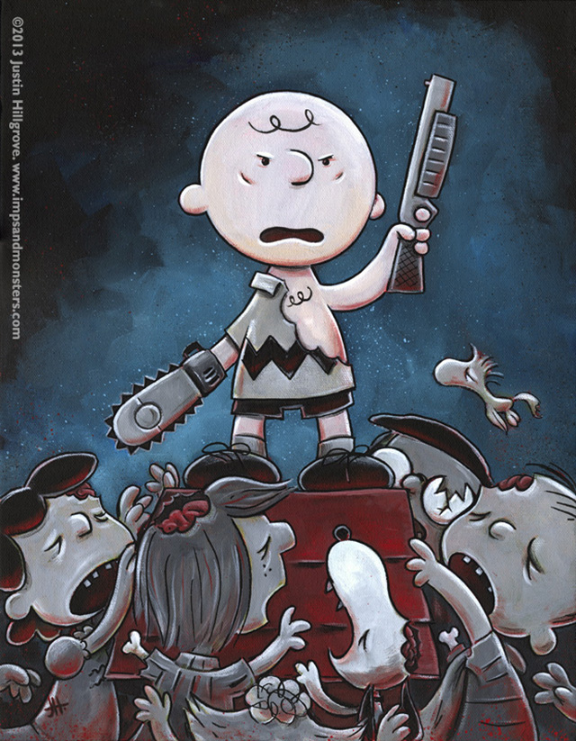 Its The Army of Darkness Charlie Brown by Justin Hillgrove