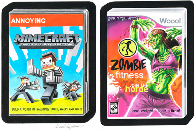 Wacky Video Game Packages by Brent Engstrom