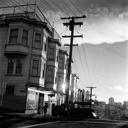 Telegraph Hill, top of Union St at Montgomery, San Francisco, ci