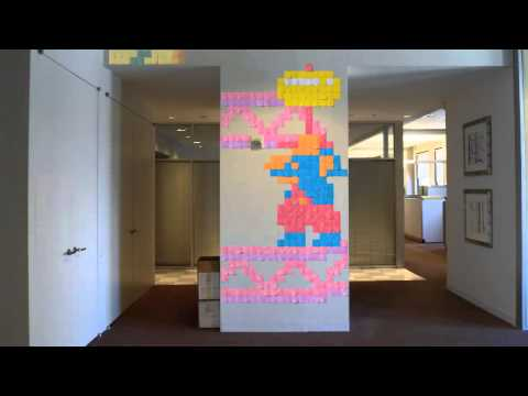 Stop-Motion Post-it Note Tribute to 'Ms. Pac-Man' and 'Donkey Kong'