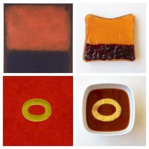 Modern art-themed desserts at SFMOMA