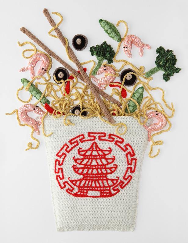 Crocheted food art by Kate Jenkins