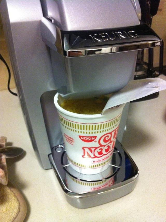 Making Ramen With A Keurig Coffee Machine