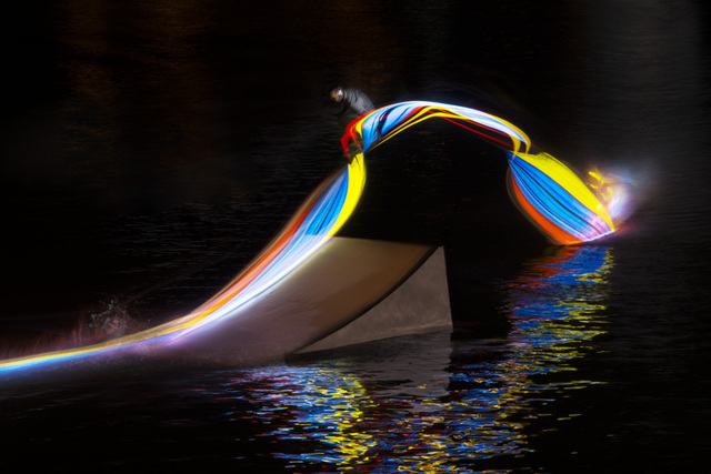 Beautiful Light Paintings Created by Wakeboarding