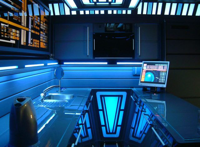 Apartment Designed After Star Trek Control Console