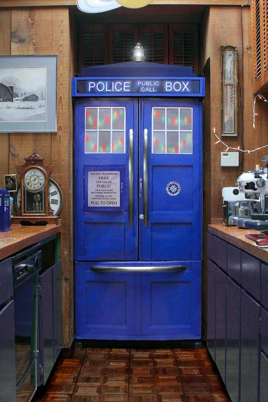Police Box Fridge Kit Turns Any Refrigerator Into A Tardis