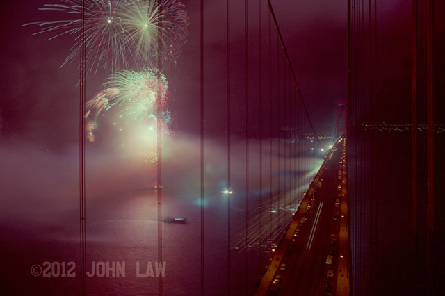 Photos taken from the Golden Gate Bridge by John Law