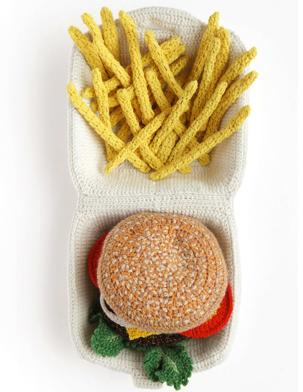 Crocheted food art by Kate Jenkins