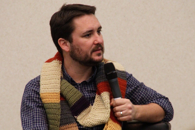 Wil Wheaton listens to a question