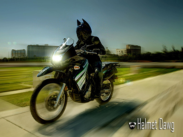 Dark as Night Batman Motorcycle Helmet