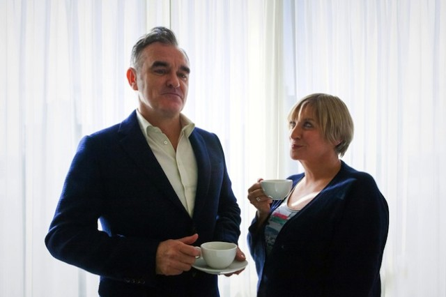 Morrissey and Victoria Wood have a cup of tea