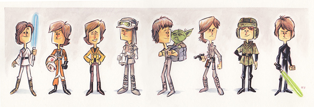 The Evolution of Luke Skywalker by Jeff Victor