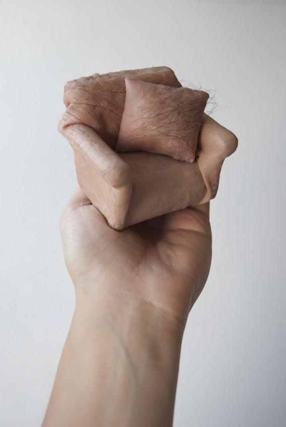Handheld, Creepy Furniture Sculptures Made of Fake Human Skin