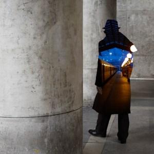 Pedestrian photomontages by Nacho Ormaechea