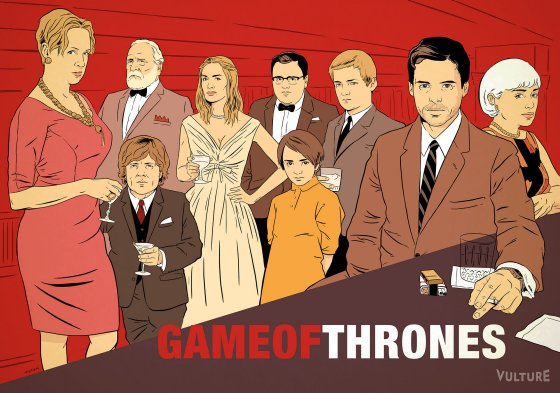 Game of Thrones as Mad Men