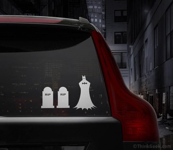 Batman family car decal set
