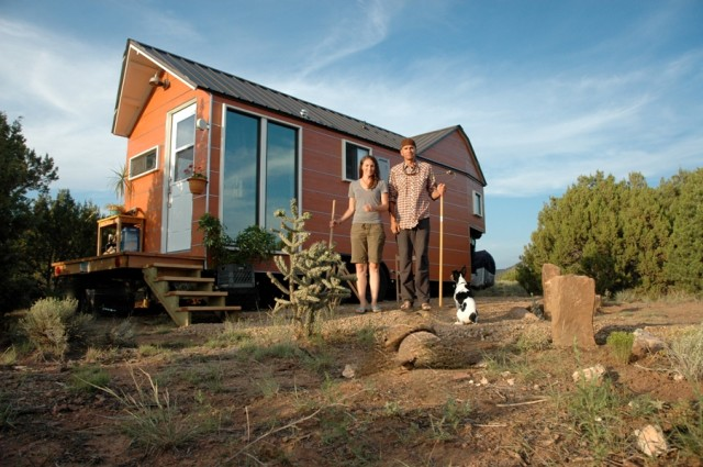 Couple builds tiny trailer home