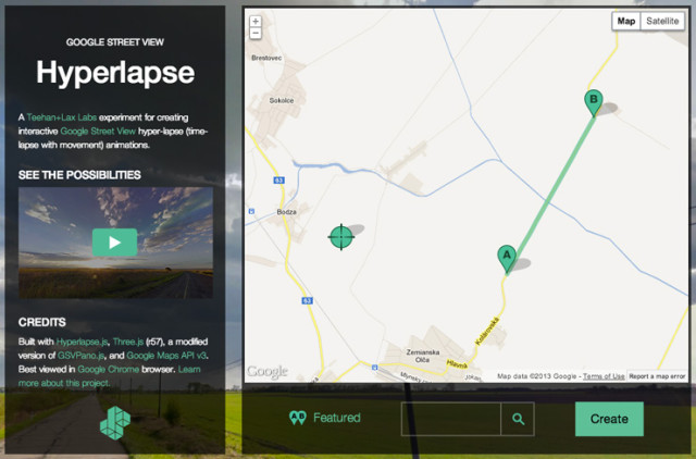 Hyperlapse Tool Lets You Make Google Street View Time-Lapses on enable google earth street view, google street view app, google search maps street view, google earth maps street view, google maps street view germany, google maps street view funny, 360 street view, google earth live view, google earth 360 view, mapquest street view, google map street level,