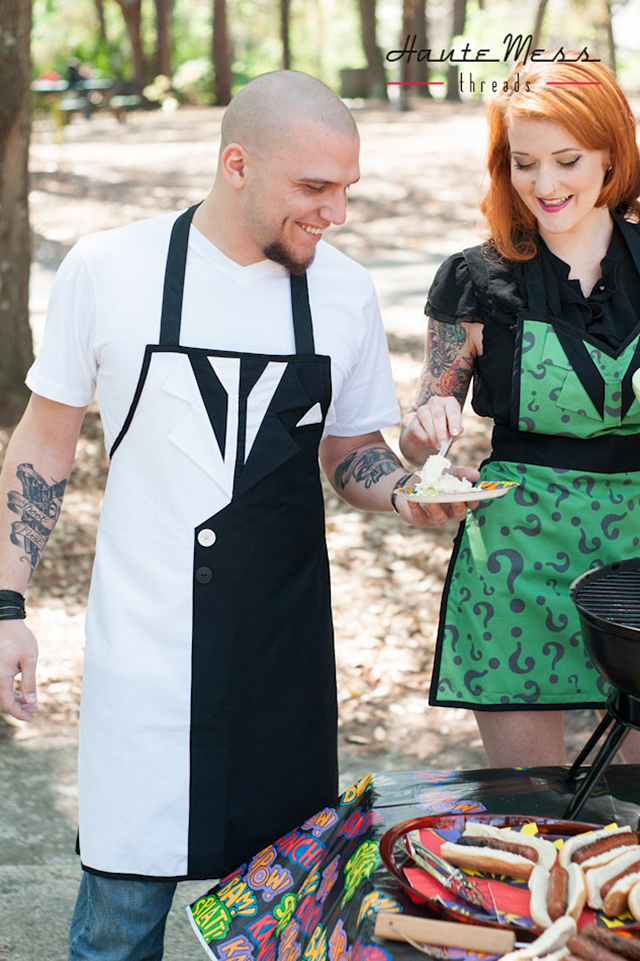 Two Face and Riddler Aprons