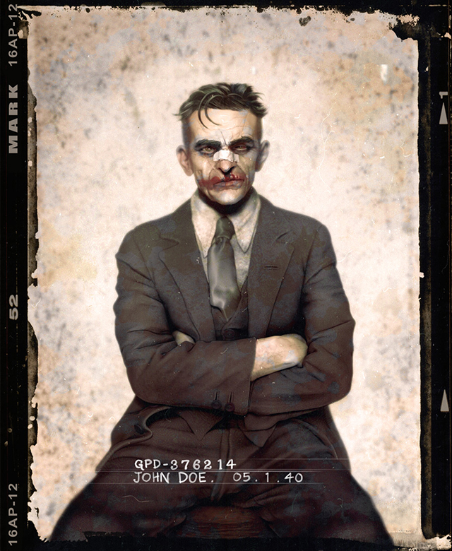 Usual Suspects, Batman Villains Reimagined in 1920s Style Mugshots