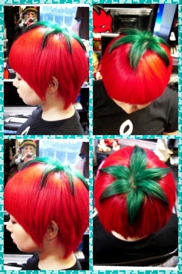 Japan's Cutting-Edge 'Ripe Tomato' Hairstyle