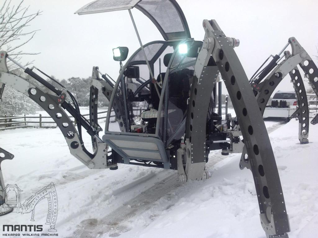 mantis a piloted 2tonne hexapod robot