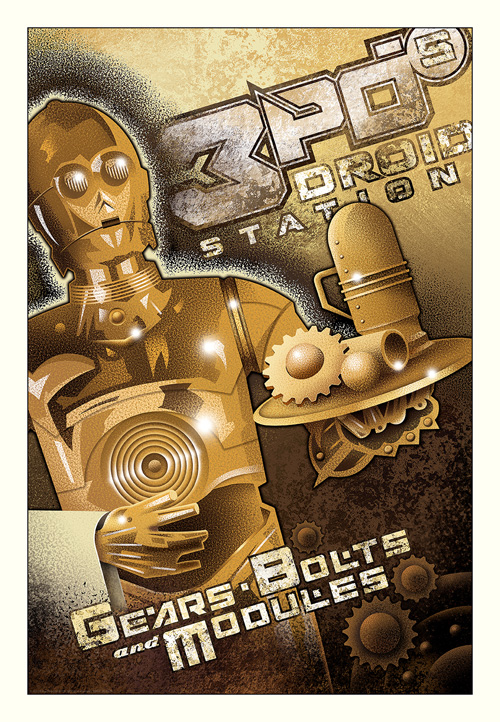 3 PO'S DROID STATION