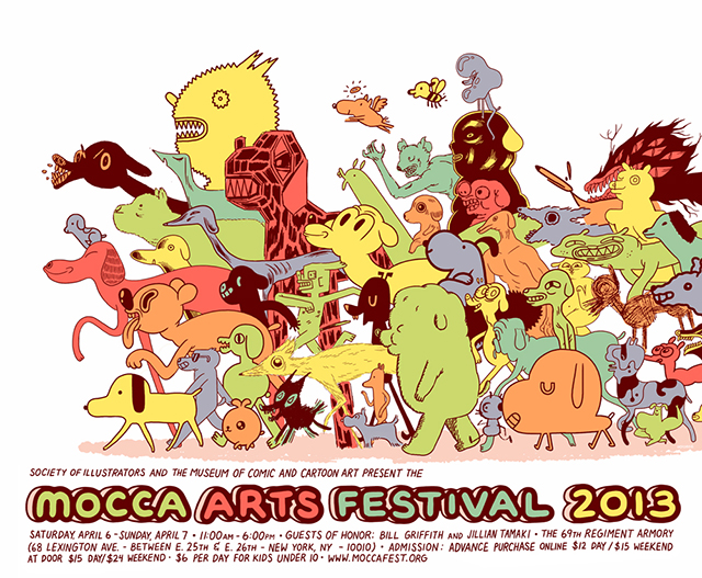 MoCCA Fest Poster 2013 by Michael DeForge
