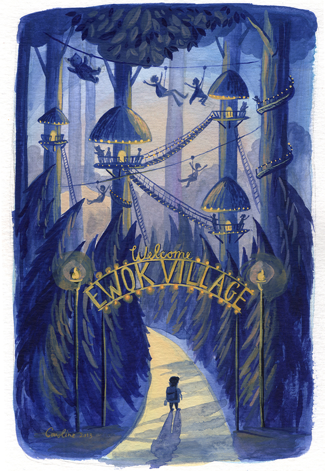 Welcome to the Ewok Village by Caroline Hadilaksono